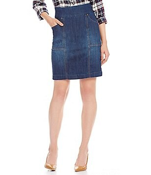 Jag Jeans Janelle Pull-On 4-Pocket Denim Pencil Skirt