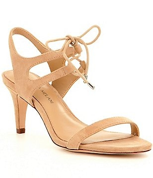 Antonio Melani Madaline Lace-Up Banded Suede Dress Sandals