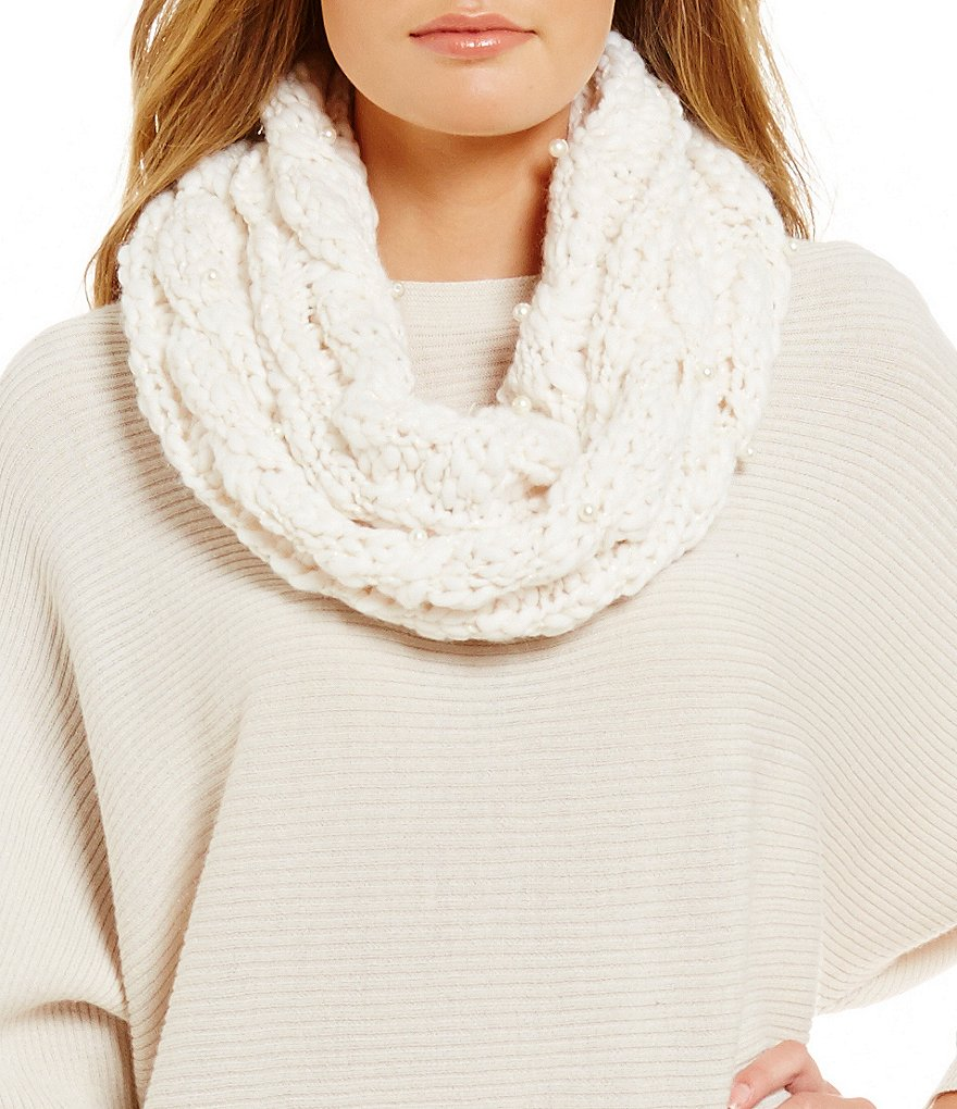 Betsey Johnson Pearly Girl Snood Scarf