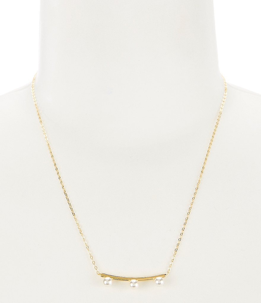 Nadri Sunset Bar Pearl Frontal Necklace