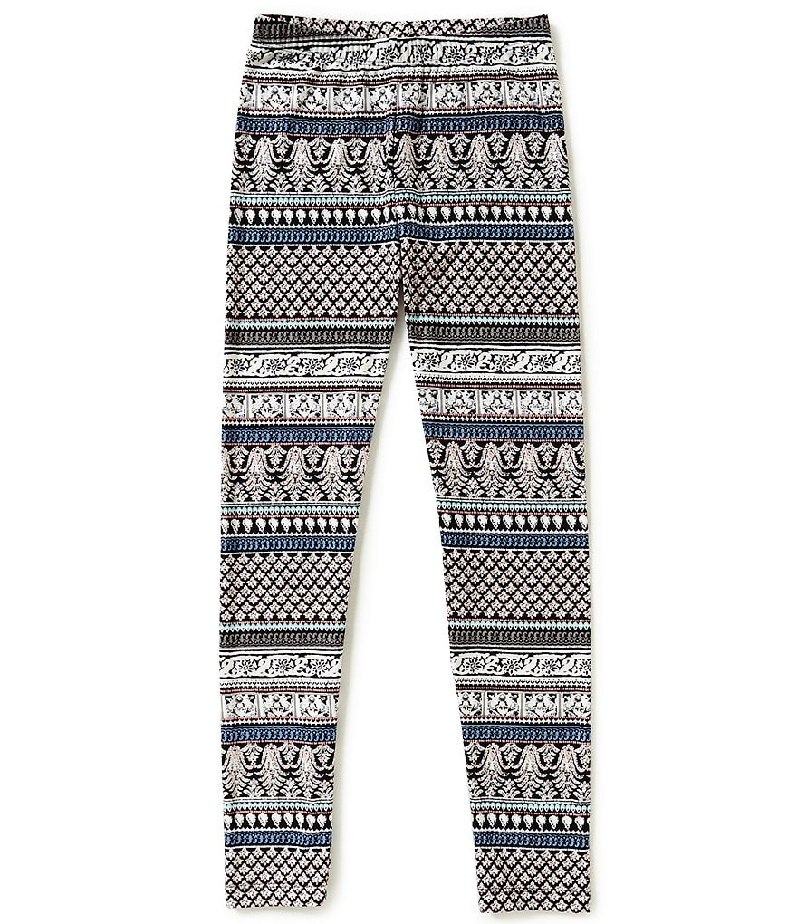 GB Girls Big Girls 7-16 Border-Print Leggings