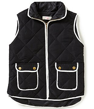 GB Girls Big Girls 7-16 Contrast-Trim Puffer Vest