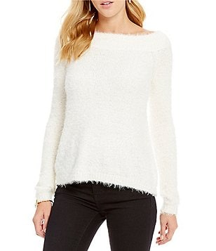 Chelsea & Violet Off-The-Shoulder Long Sleeve Sweater
