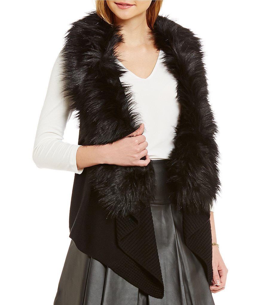 MICHAEL Michael Kors Faux-Fur Collar Sweater Vest