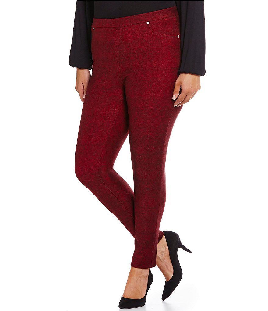 MICHAEL Michael Kors Plus Linhart Paisley Print Stretch Twill Knit Leggings