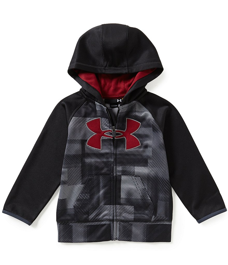 Under Armour Little Boys 2T-7 Blast Printed/Color Block Big Logo Hoodie