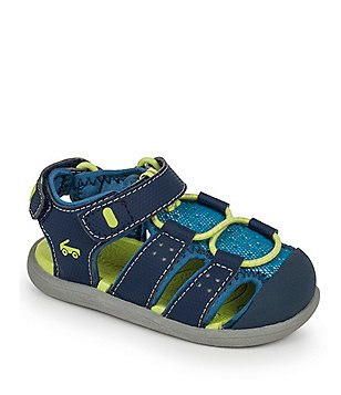 See Kai Run Boy´s Lincoln II Caged Bungee Lace Hook & Loop Sandals