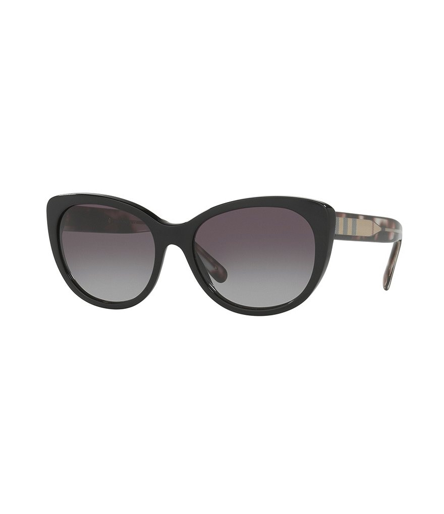 Burberry Acoustic Contrast Check Cat-Eye Sunglasses