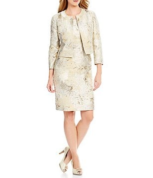 Albert Nipon 2-Piece Jacket Dress Suit