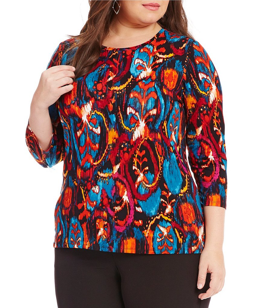 Investments Plus Essentials 3/4 Sleeve Top