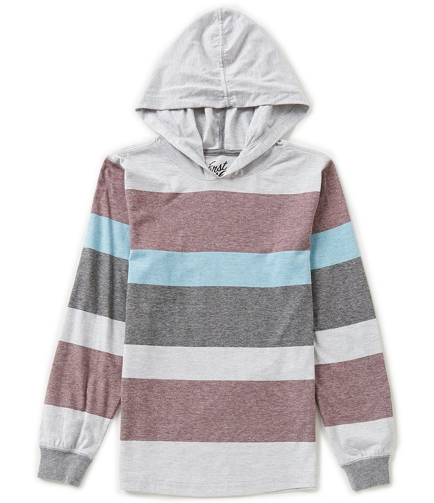 First Wave Big Boys 8-20 Striped Pullover Hoodie