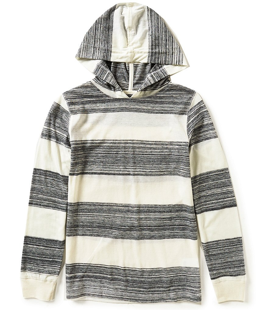 First Wave Big Boys 8-20 Wide Striped Hoodie
