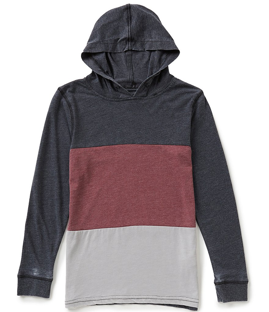 First Wave Big Boys 8-20 Colorblock Hooded Pullover