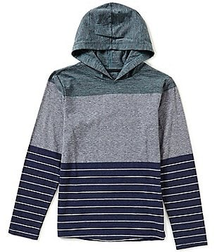 First Wave Big Boys 8-20 Striped Hooded Pullover