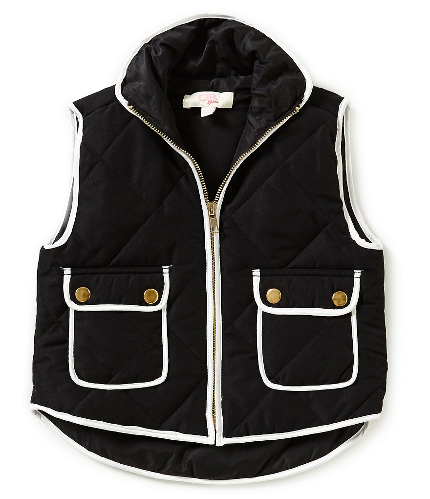 GB Girls Little Girls 4-6X Contrast Trim Puffer Vest