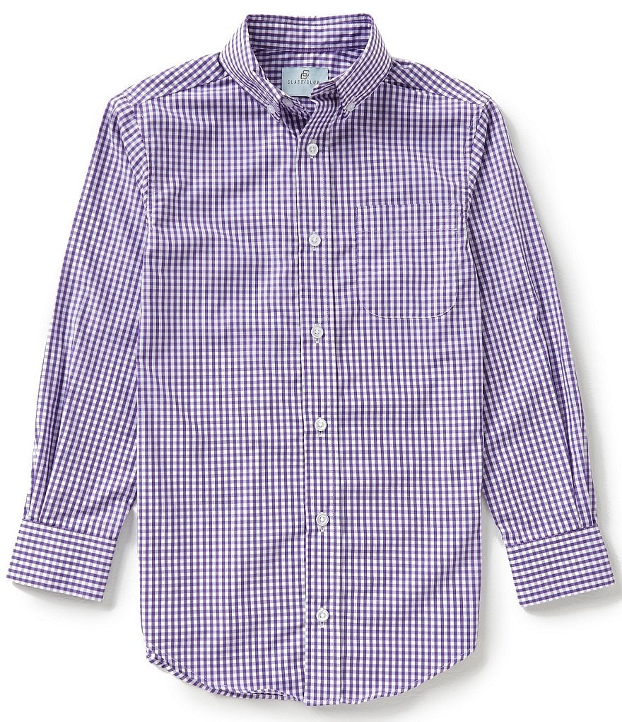 Class Club Big Boys 8-20 Gingham Shirt