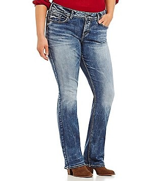 Silver Jeans Co. Plus Suki High Slim Bootcut Jeans