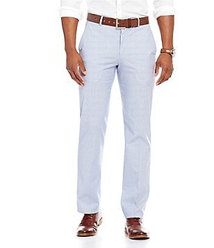 Murano Barcelona Collection Alex Modern Slim Fit Flat-Front Striped Pants