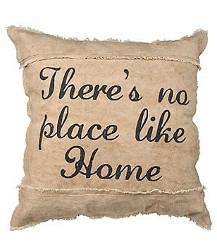 Primitives by Kathy There´s No Place Like Home Cotton Canvas Pillow