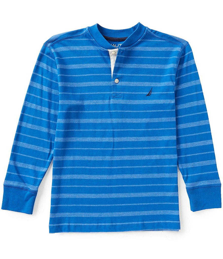 Nautica Big Boys 8-20 Long-Sleeve Striped Henley Tee
