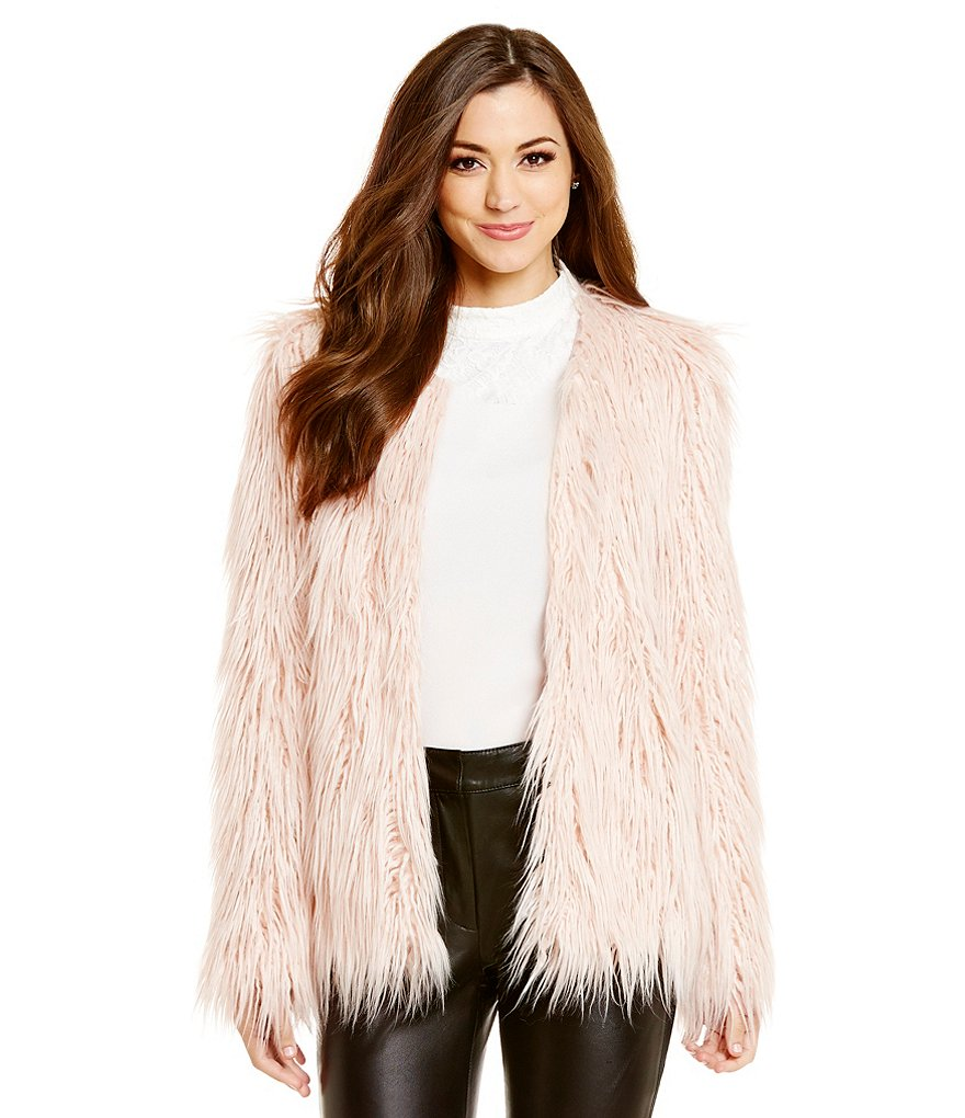 Antonio Melani Graham Long Pile Faux-Fur Jacket