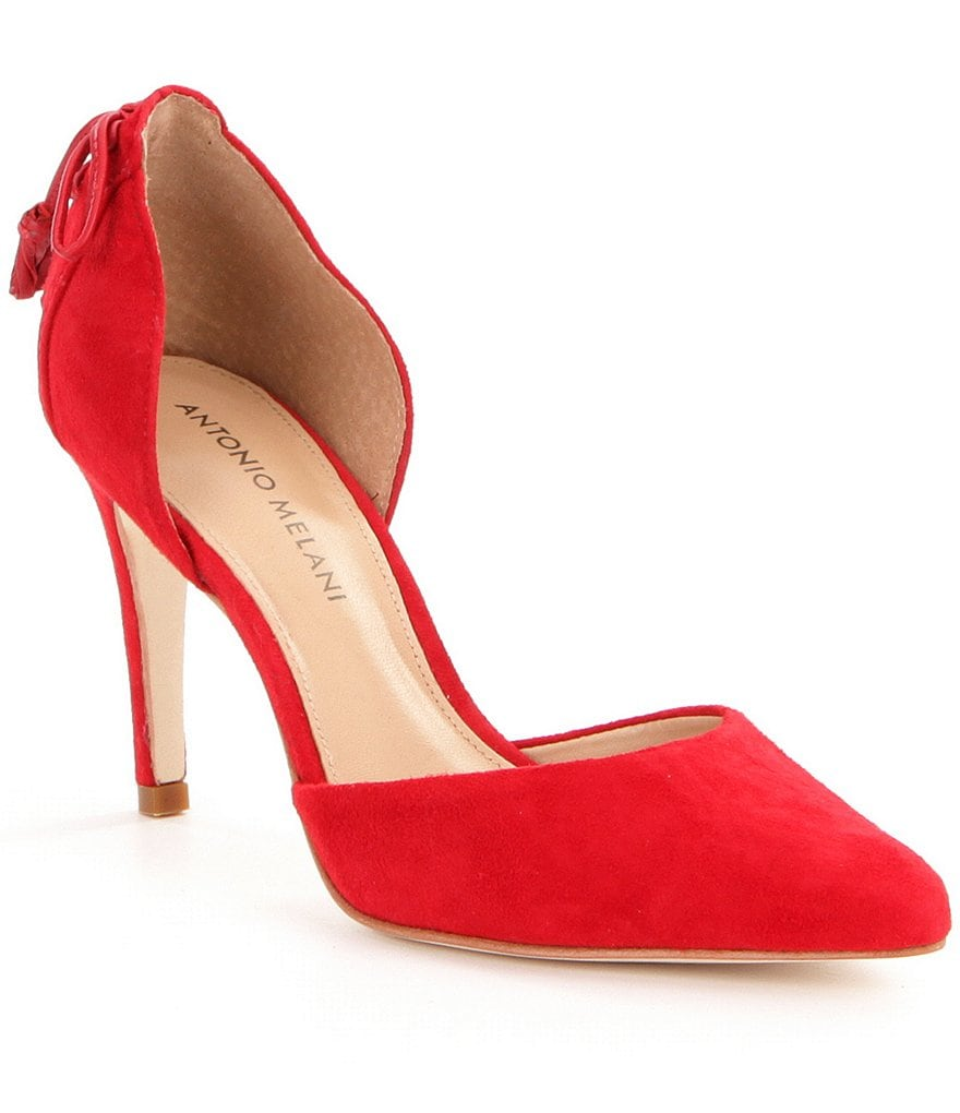 Antonio Melani Coren d´Orsay Suede Pointed Toe Pumps