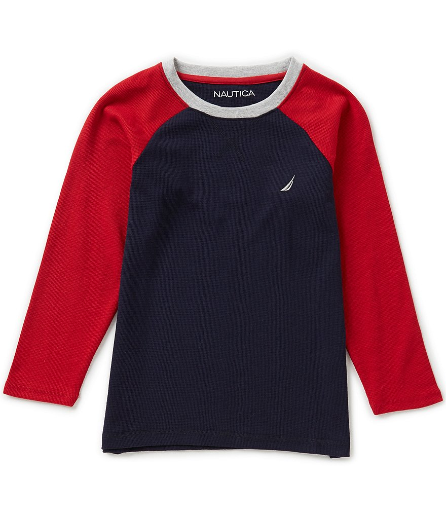 Nautica Big Boys 8-20 Long-Sleeve Color Block Raglan Tee