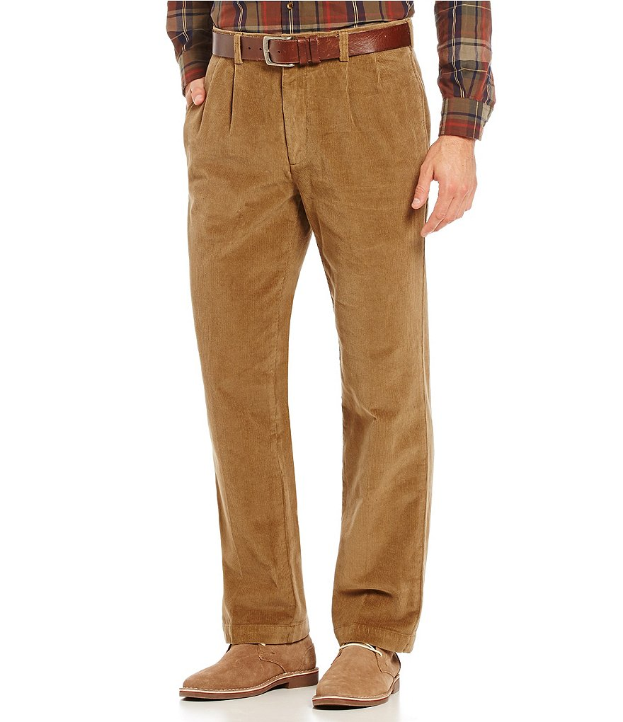 Roundtree & Yorke Big & Tall Pleated Inno-Flex Waist Corduroy Pants