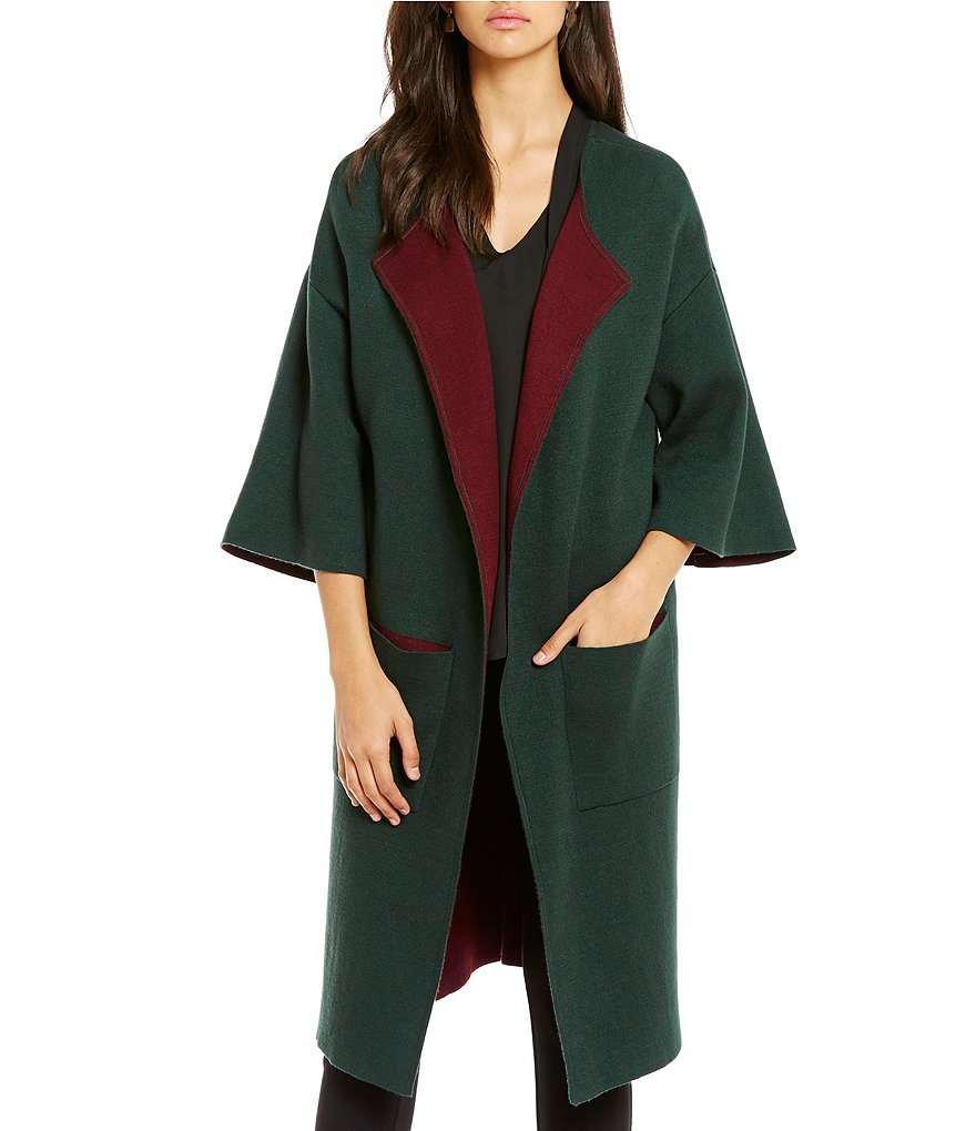 Gibson & Latimer Car Elbow Sleeve Oversized Maxi Sweater Duster