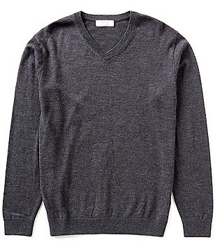 Turnbury Big & Tall V-Neck Merino Wool Sweater