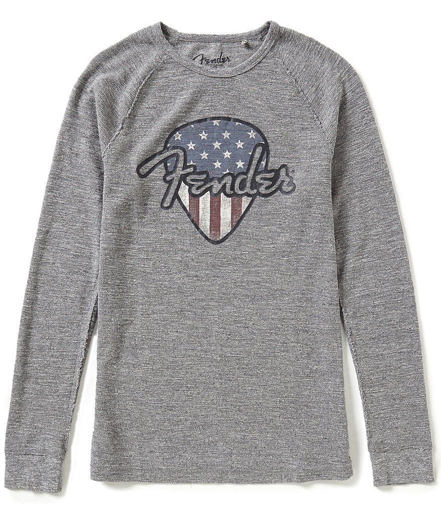 Lucky Brand Fender Graphic Long-Sleeve Thermal