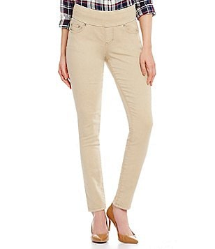 Jag Jeans Nora Colored Knit Denim Pull-On Skinny Jeans