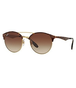 Ray-Ban Highstreet Double-Bridge Round Gradient Sunglasses