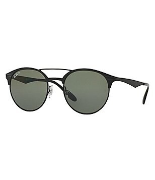 Ray-Ban Highstreet Polarized Round Double-Bridge Sunglasses