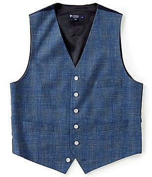 Cremieux Edward Plaid Linen Vest