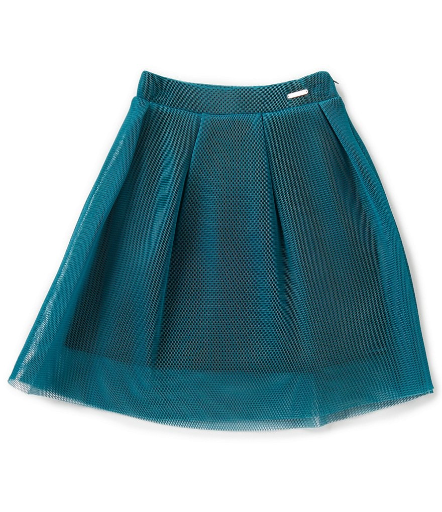 Marciano Big Girls 7-16 Pleated A-Line Mesh Skirt
