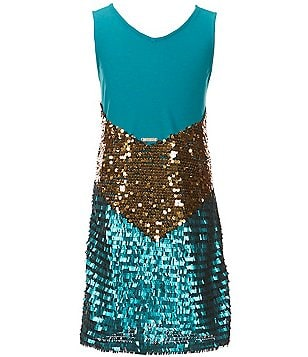 Marciano Big Girls 7-16 Sequin V-Neck Dress