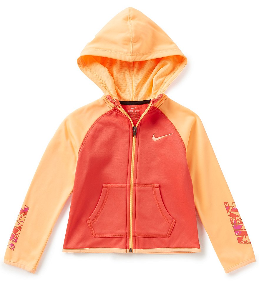 Nike Little Girls 2T-6X Therma-FIT Fleece Hoodie
