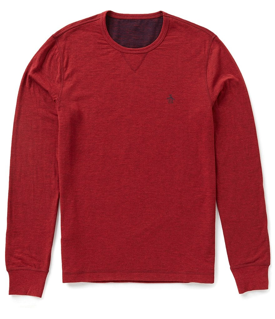 Original Penguin Reversible Long-Sleeve Crewneck Tee