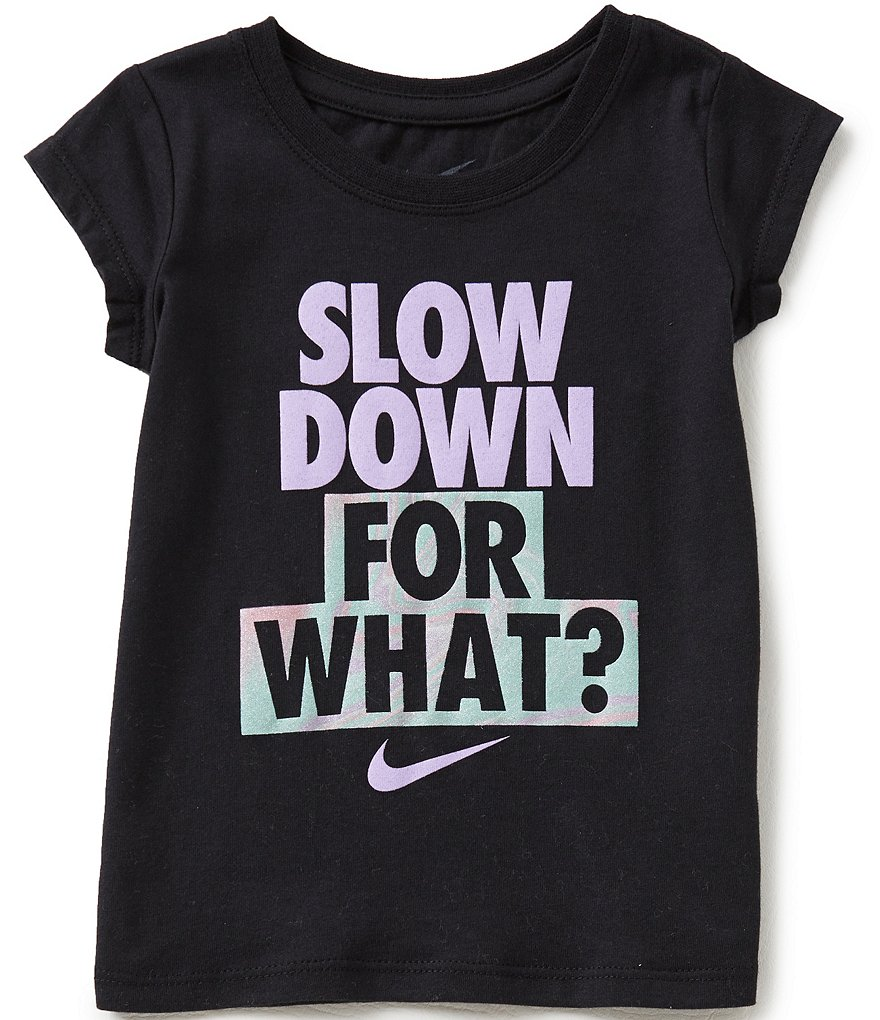 Nike Little Girls 2T-6X Slow Down Graphic Tee