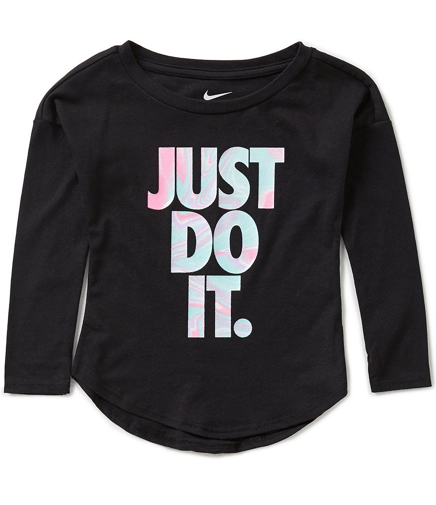 Nike Little Girls 2T-6X Iridescent Long-Sleeve Modern Tee