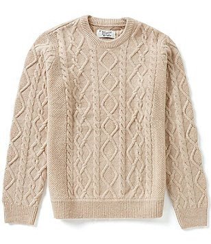 Original Penguin Fisherman Long-Sleeve Cable Sweater