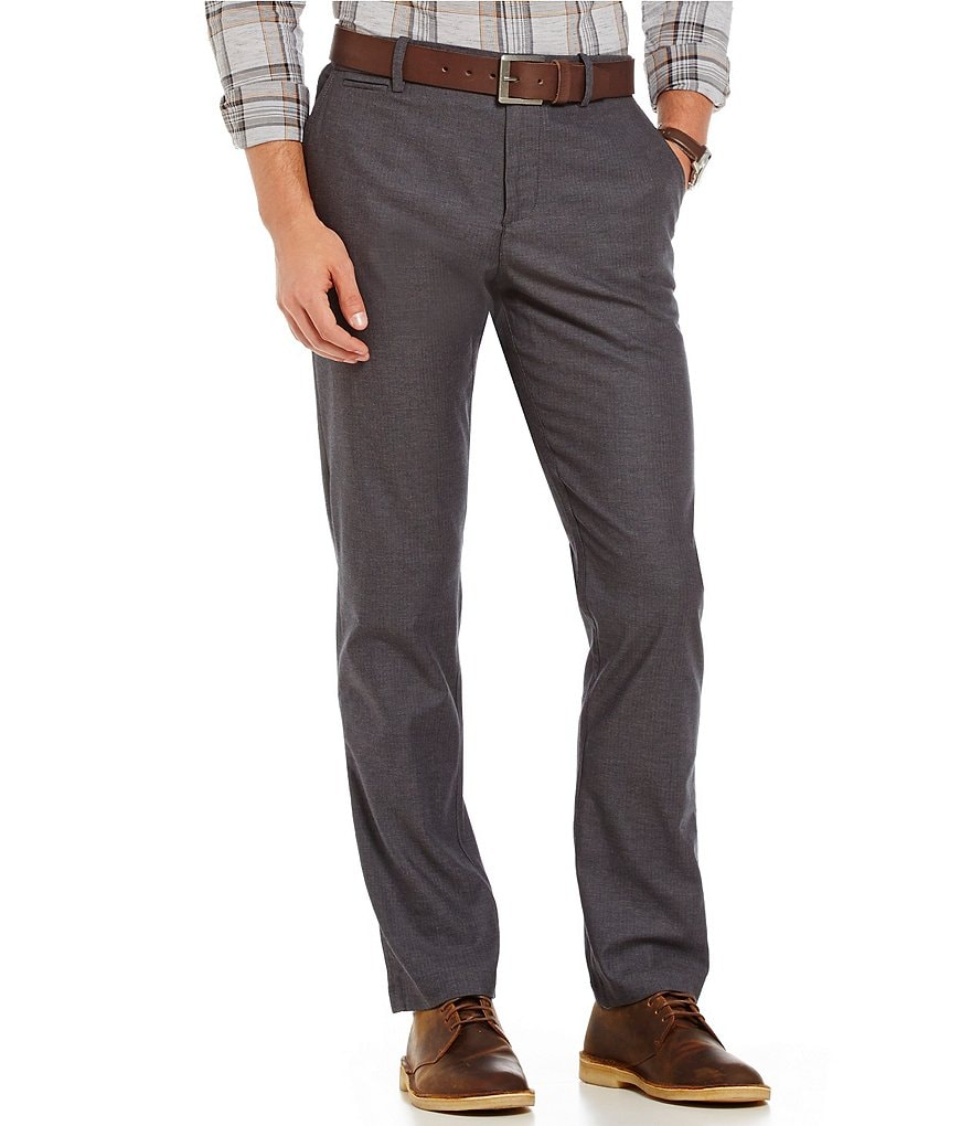 Original Penguin Slim-Fit Flat-Front Herringbone Tech Pants
