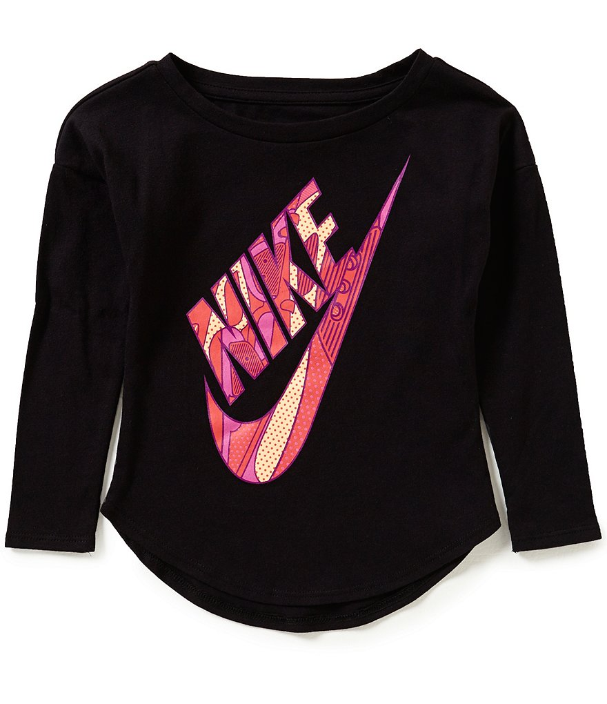 Nike Little Girls 2T-6X Futura AM 90 Modern Tee