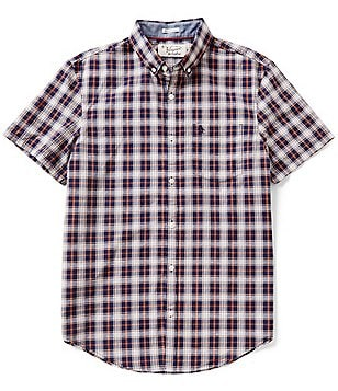 Original Penguin Slub Plaid Short-Sleeve Woven Shirt