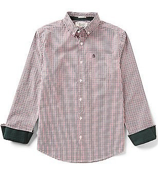 Original Penguin Heritage Slim-Fit Long-Sleeve Woven Gingham Shirt