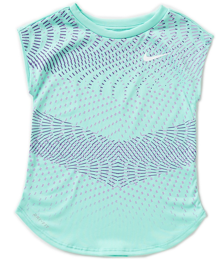 Nike Little Girls 2T-6X Chevron Dri-FIT Tee