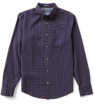 Original Penguin Tattersall Check Long-Sleeve Oxford Woven Shirt