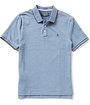 Original Penguin Suede Plated Short-Sleeve Solid Polo Shirt