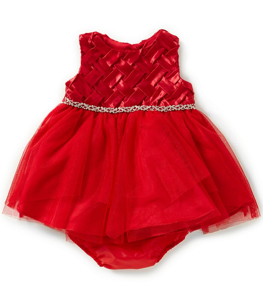 Rare Editions Baby Girls 3-24 Months Basketweave Dress